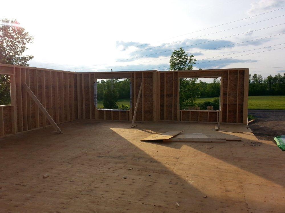 House framing by owner builders in Ontario