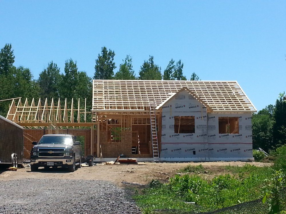 Grandor roof trusses and strapping
