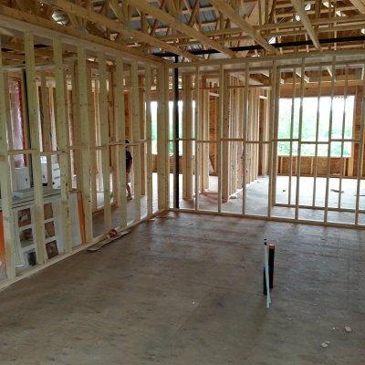 Weeks 10 & 11: New home interior framing and plumbing