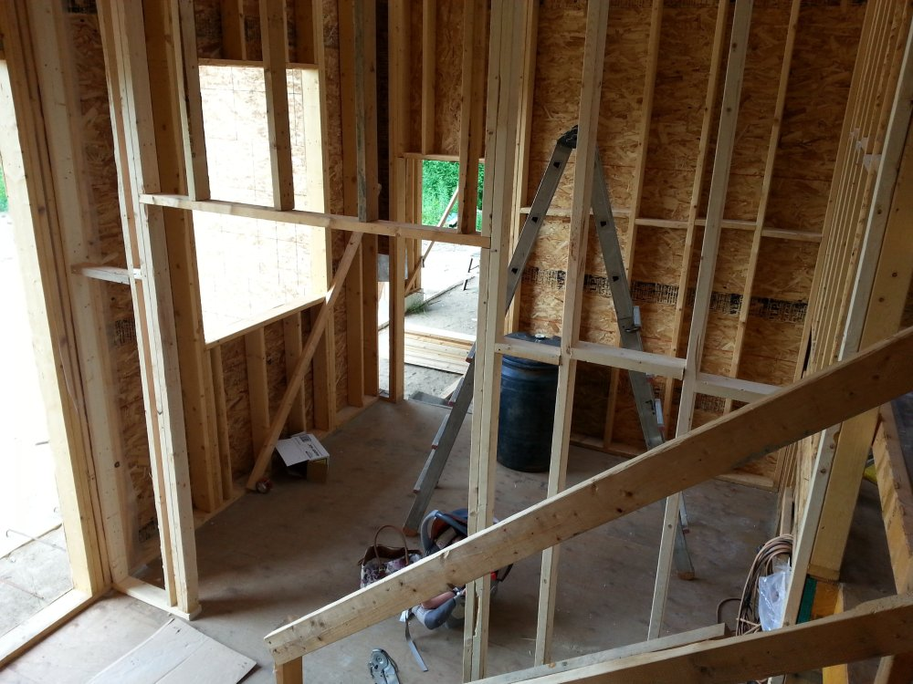 interior framing owner builder raised bungalow