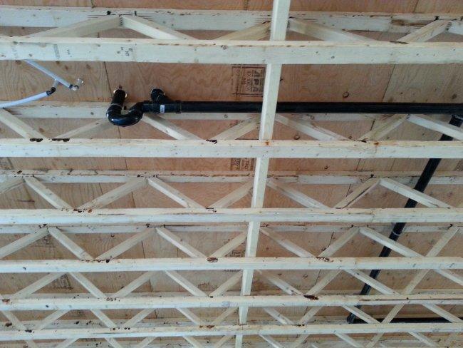 plumbing and interior framing