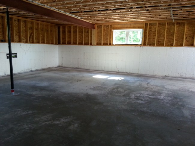 basement concrete with in-floor heating. Owner builder raised bungalow