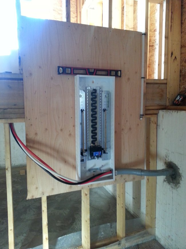 owner builder electrical panel box