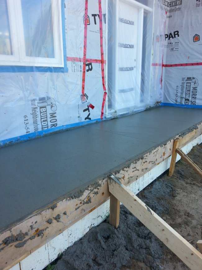 DIY stamped concrete