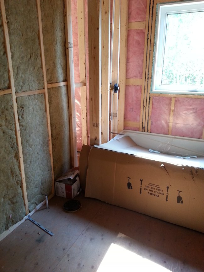 Main bathroom in construction