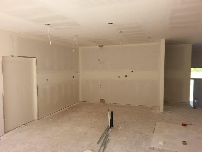 kitchen new drywall