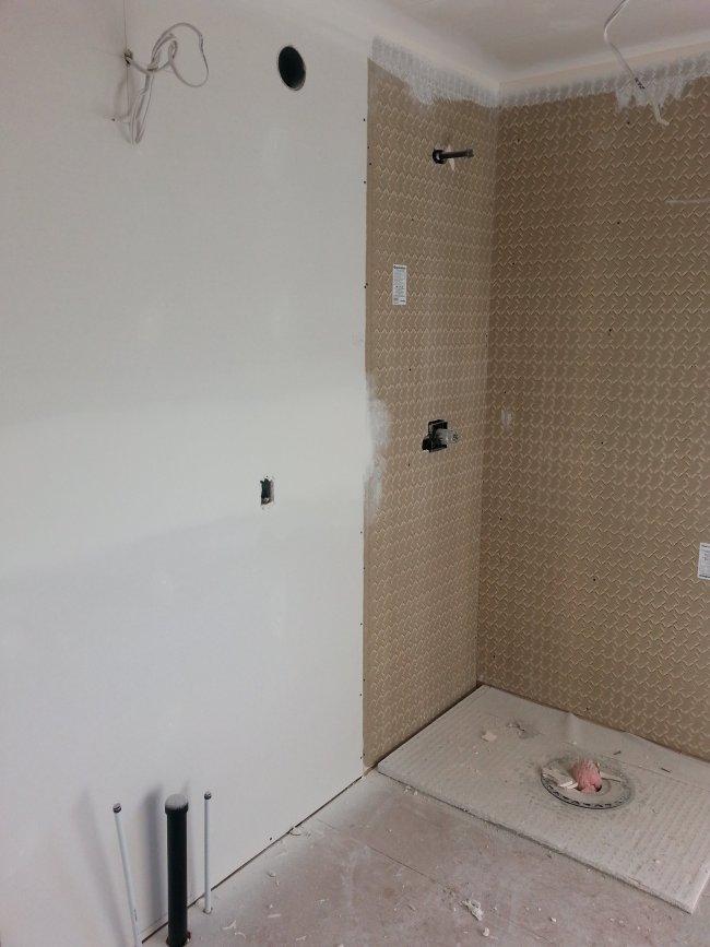ensuite new drywall
