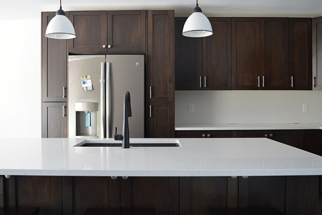 kitchen grey moore pin pale countertops paint colors pewter benjamin lummy oak