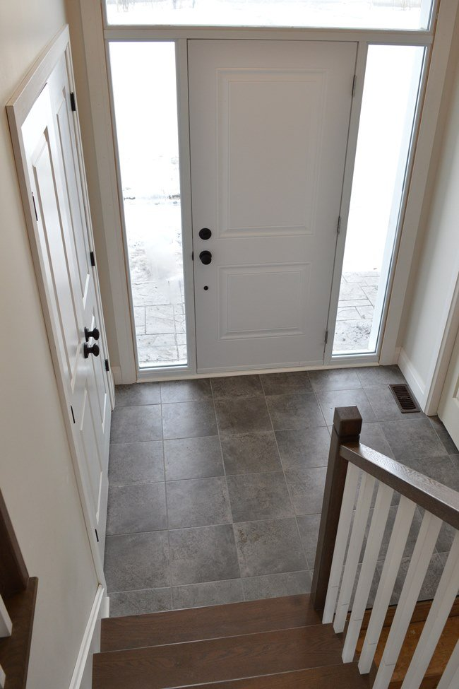 Grey floor tile
