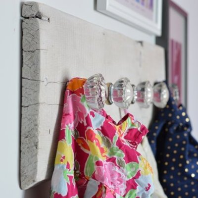 How to Make Wall Hooks from Vintage Glass Knobs and Reclaimed Lumber
