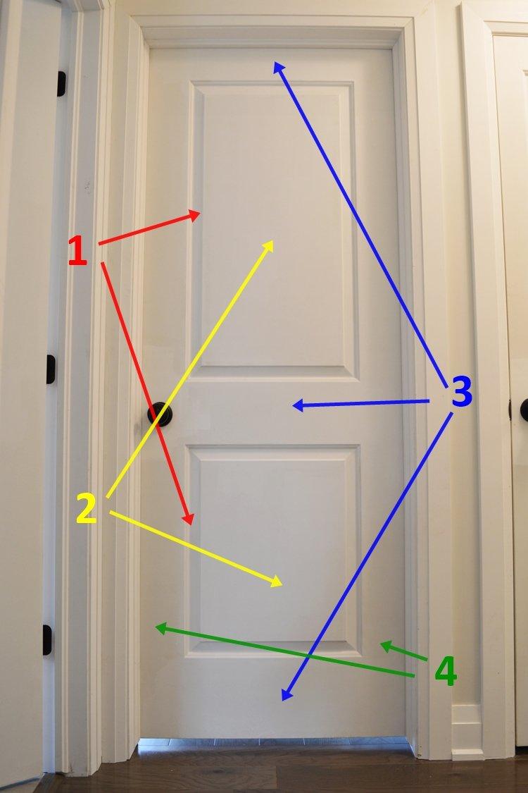 How to trim the door slope 20