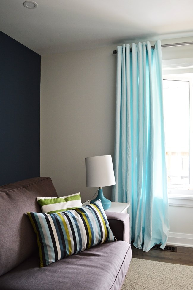 how to dye ikea curtains aqua blue, ikea curtain hack