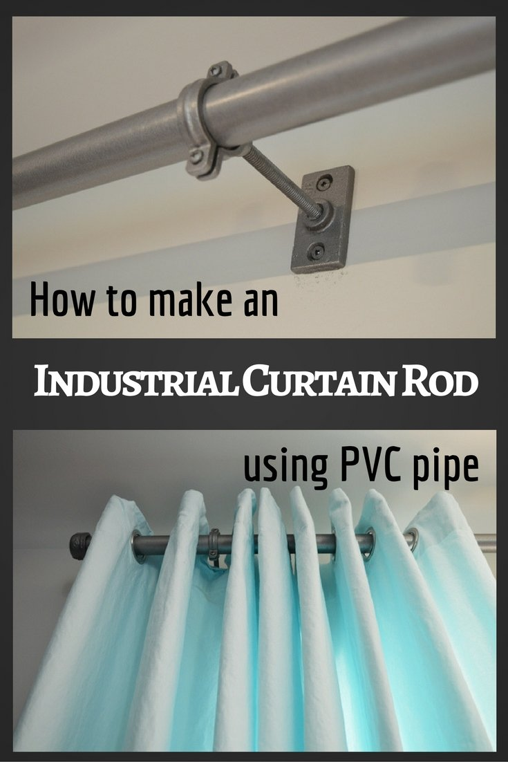 How to make an industrial curtain rod from PVC pipe. DIY curtain rod tutorial