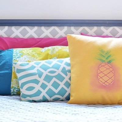 How to make a watercolor pineapple pillow cover
