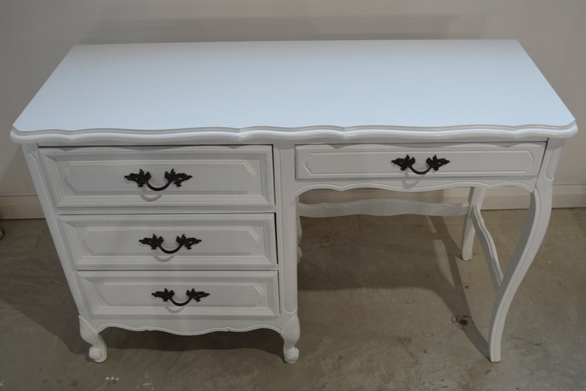 general finishes milk paint desk makeover