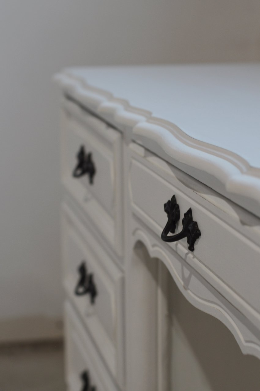 French provincial desk makeover