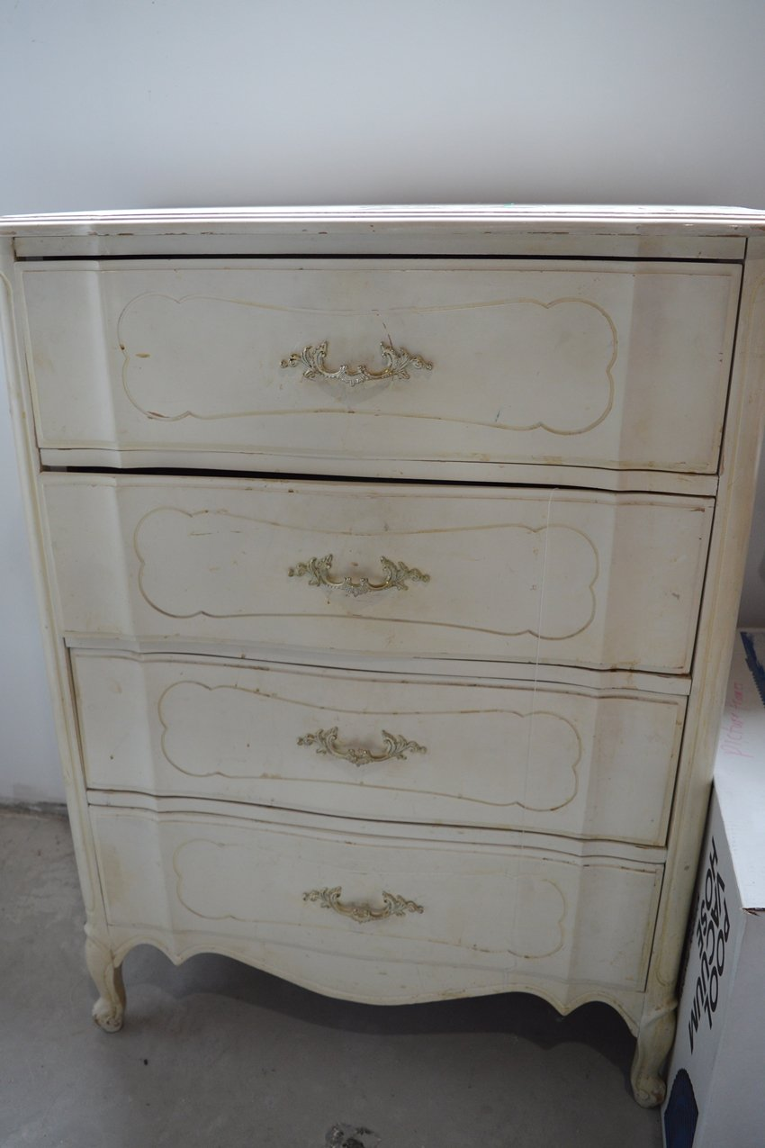 curbside french provincial dresser makeover