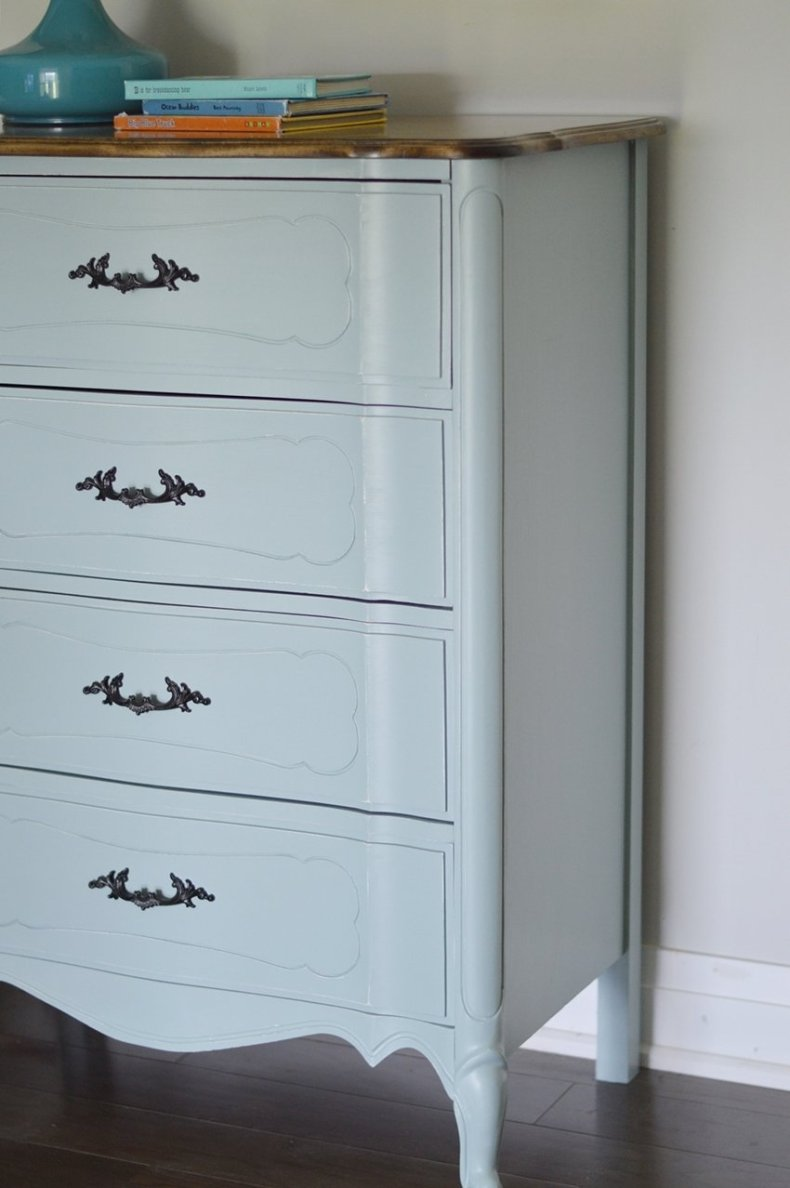 general finishes light blue dresser