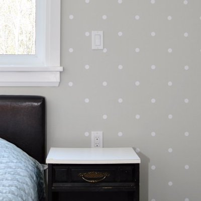Master Bedroom Polka Dot Accent Wall: One Room Challenge Week 3