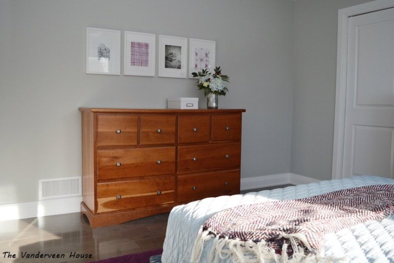 master bedroom makeover with a gallery wall
