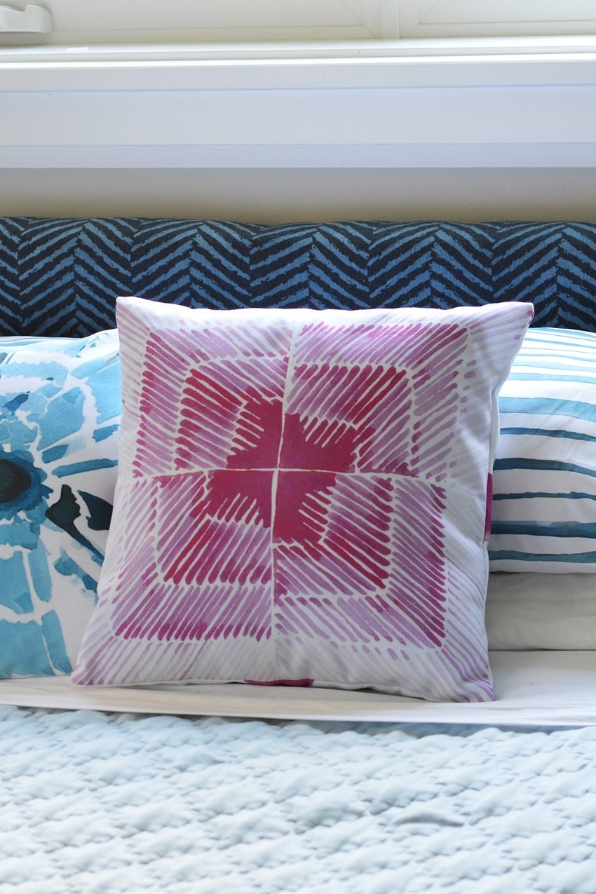 reversible shirobi watercolor pillows