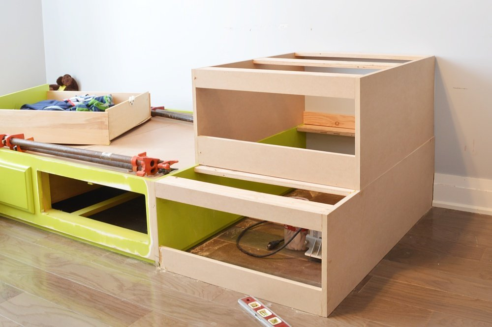 building storage drawers for built in beds
