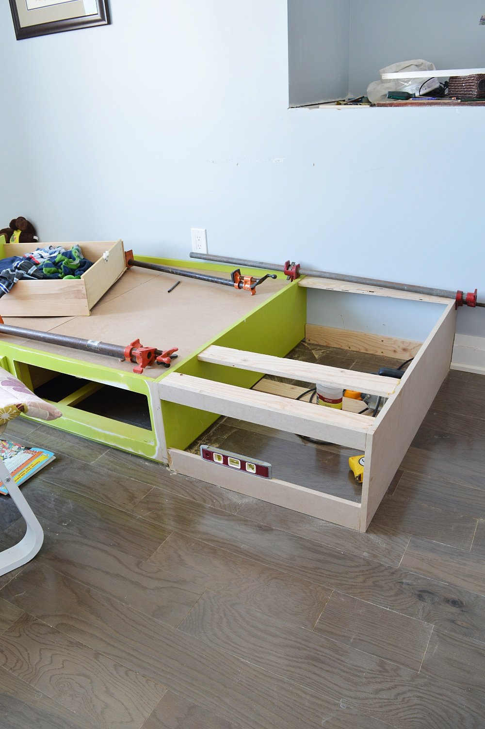 built in storage drawers for built in beds