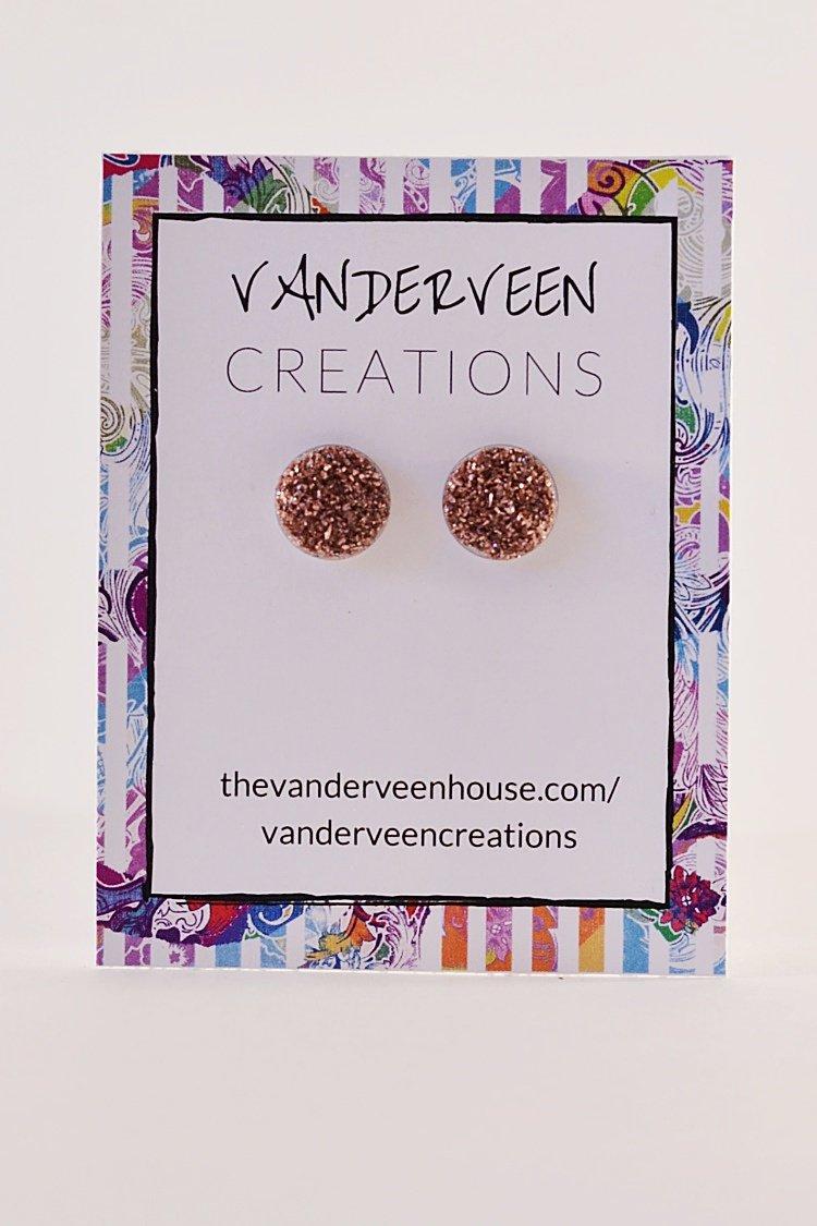 handmade glitter jewelry resin earrings