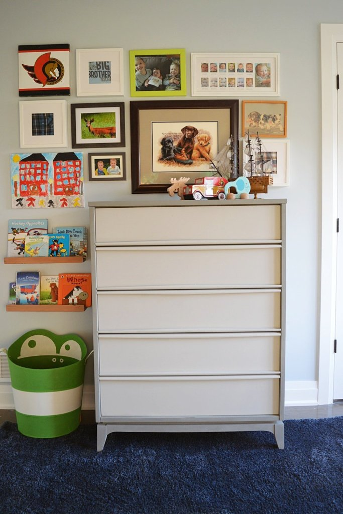 mid century dresser makeover using Country Chic chalk paint