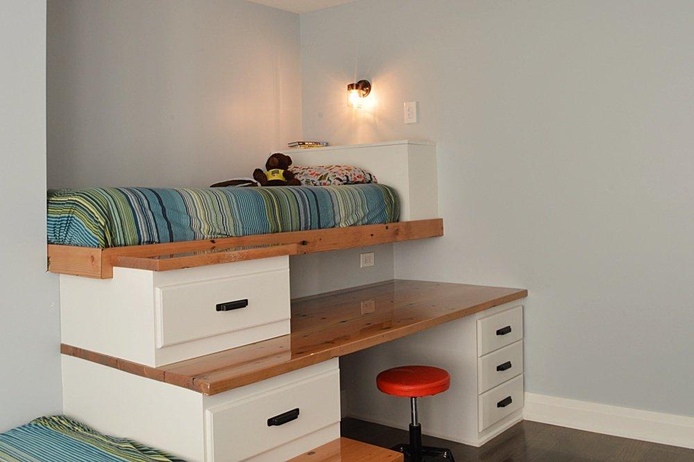 built in loft bed