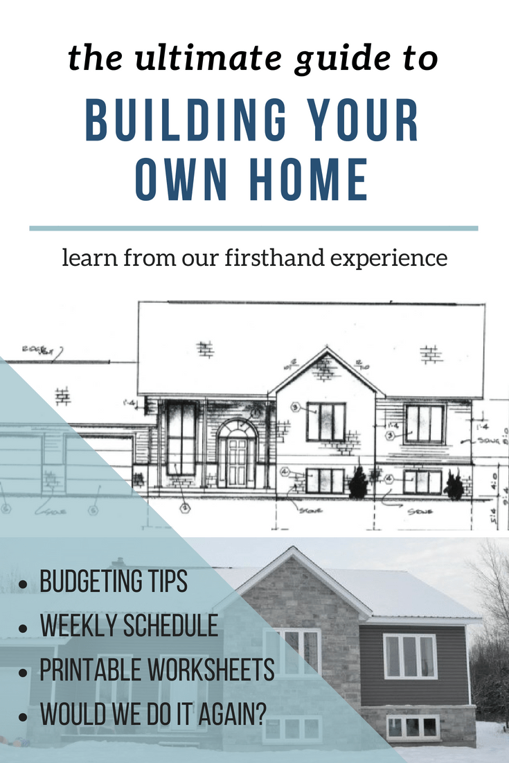The Ultimate guide to building your own home. Budgeting tips weekly schedule printable
