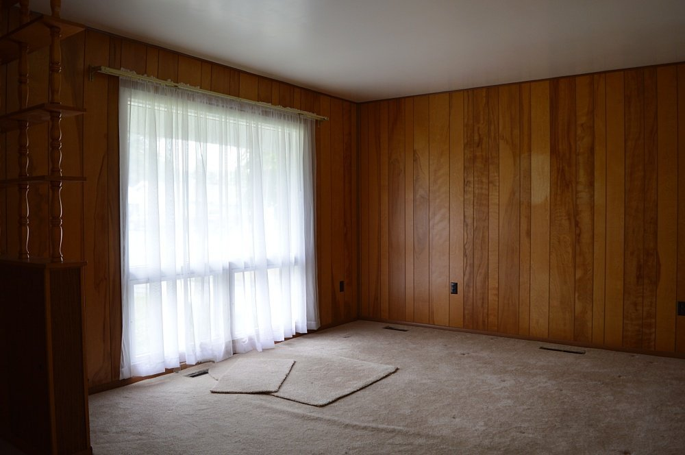 update a rental property living room with panelling