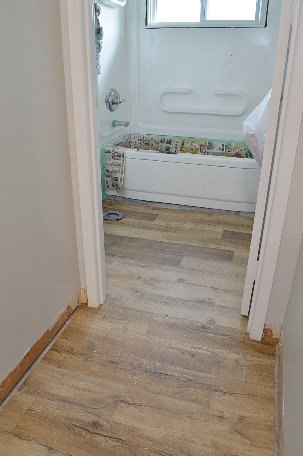 vinyl plank flooring income property