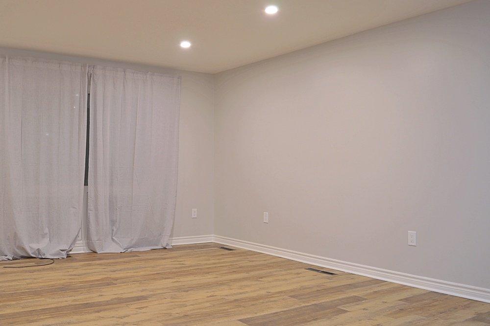 rental property open concept living room