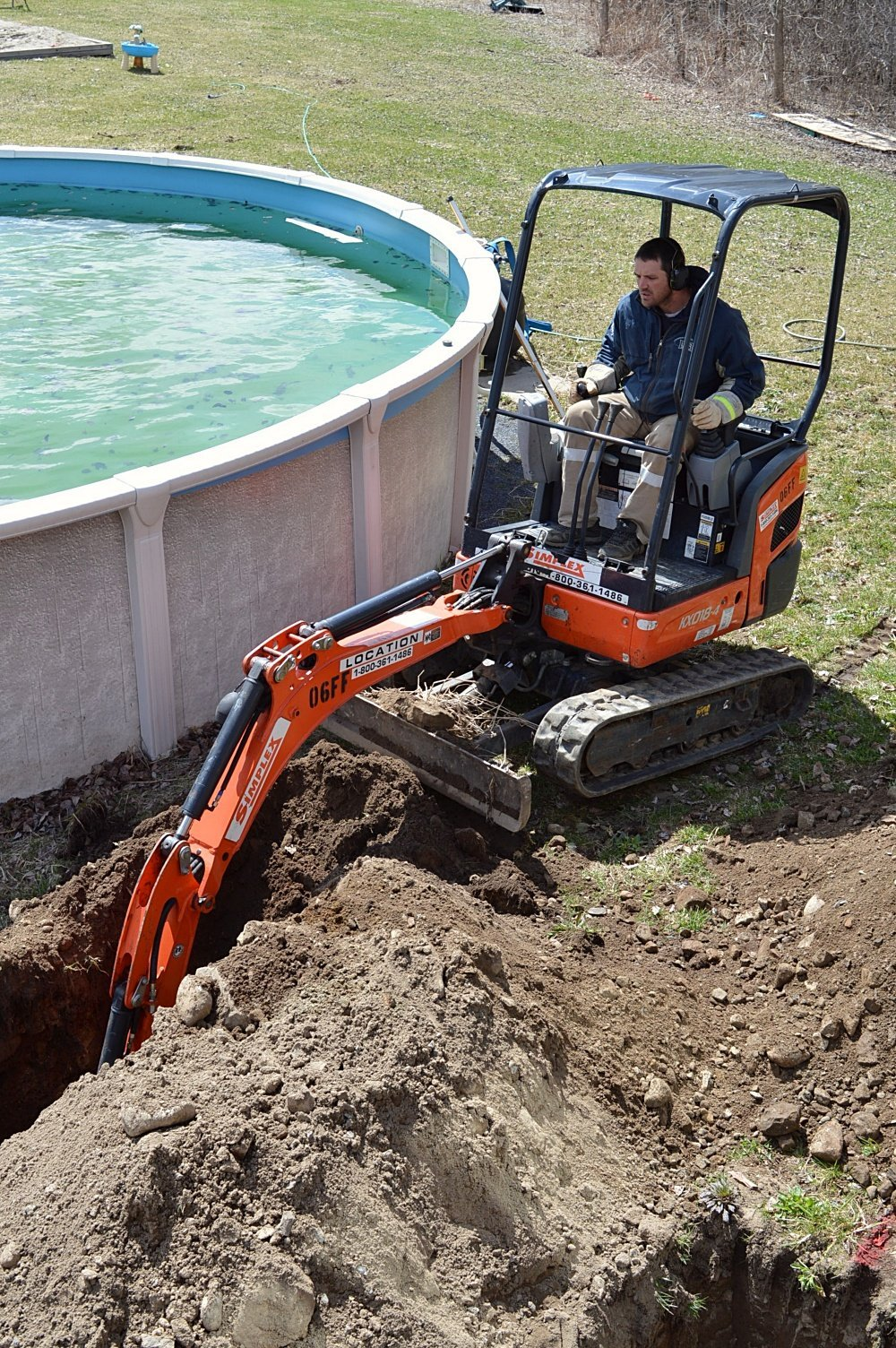 how to pour deck footings and sonotubes