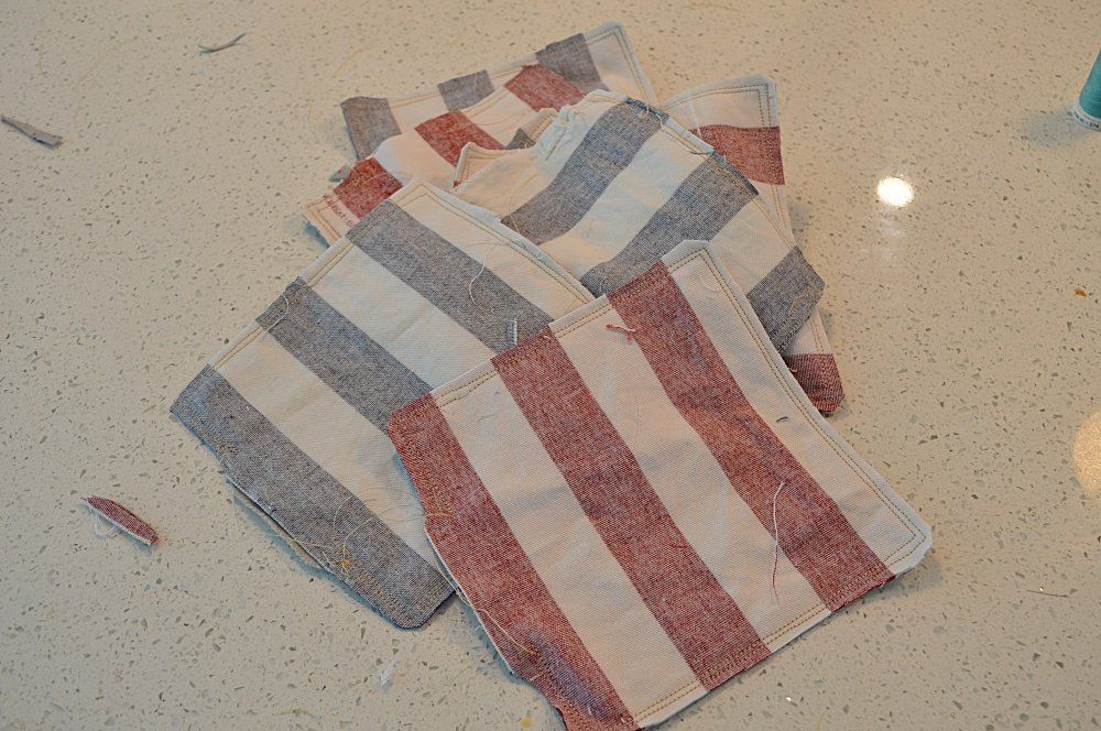 How to sew cornhole bags
