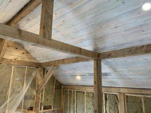 whitewash pine ceiling