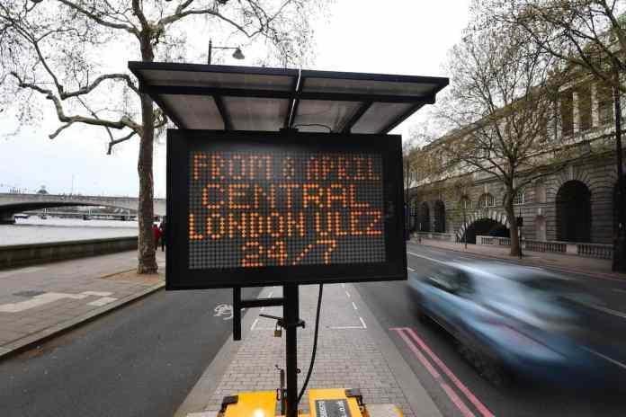 Ultra Low Emission Zone (ULEZ) warning - London 2019