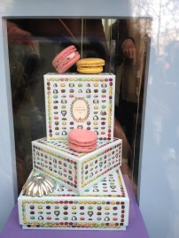Laduree macarons and window-exhibition