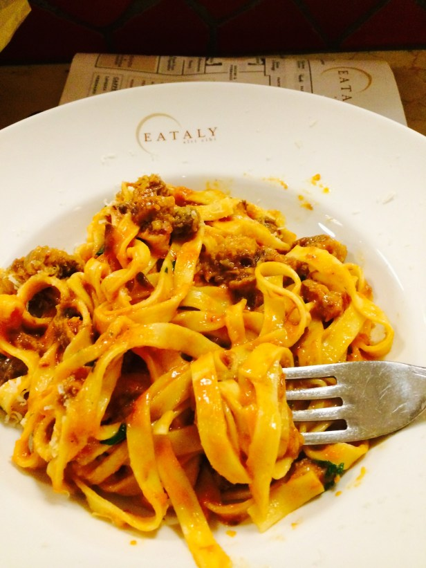 Probably the best plate of pasta I'll have in new york. Thank you Eataly