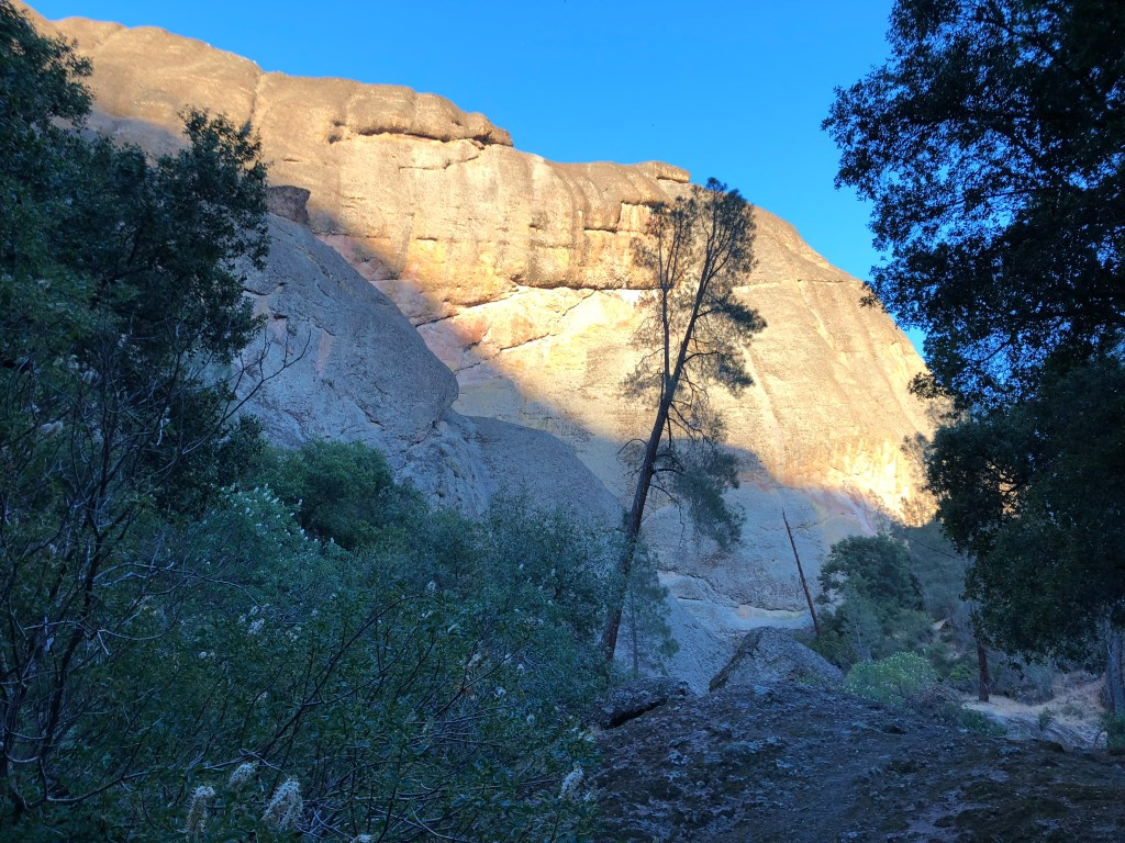 Amazing sunset on Balconies Cave Trail in Pinnacles National Park