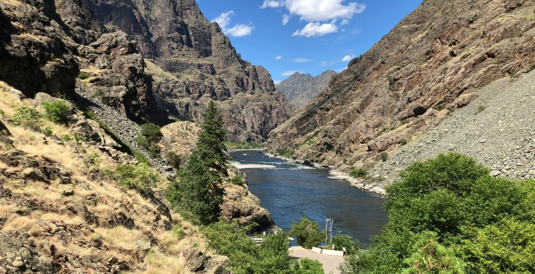 Hells Canyon and Snake River from the visitors center