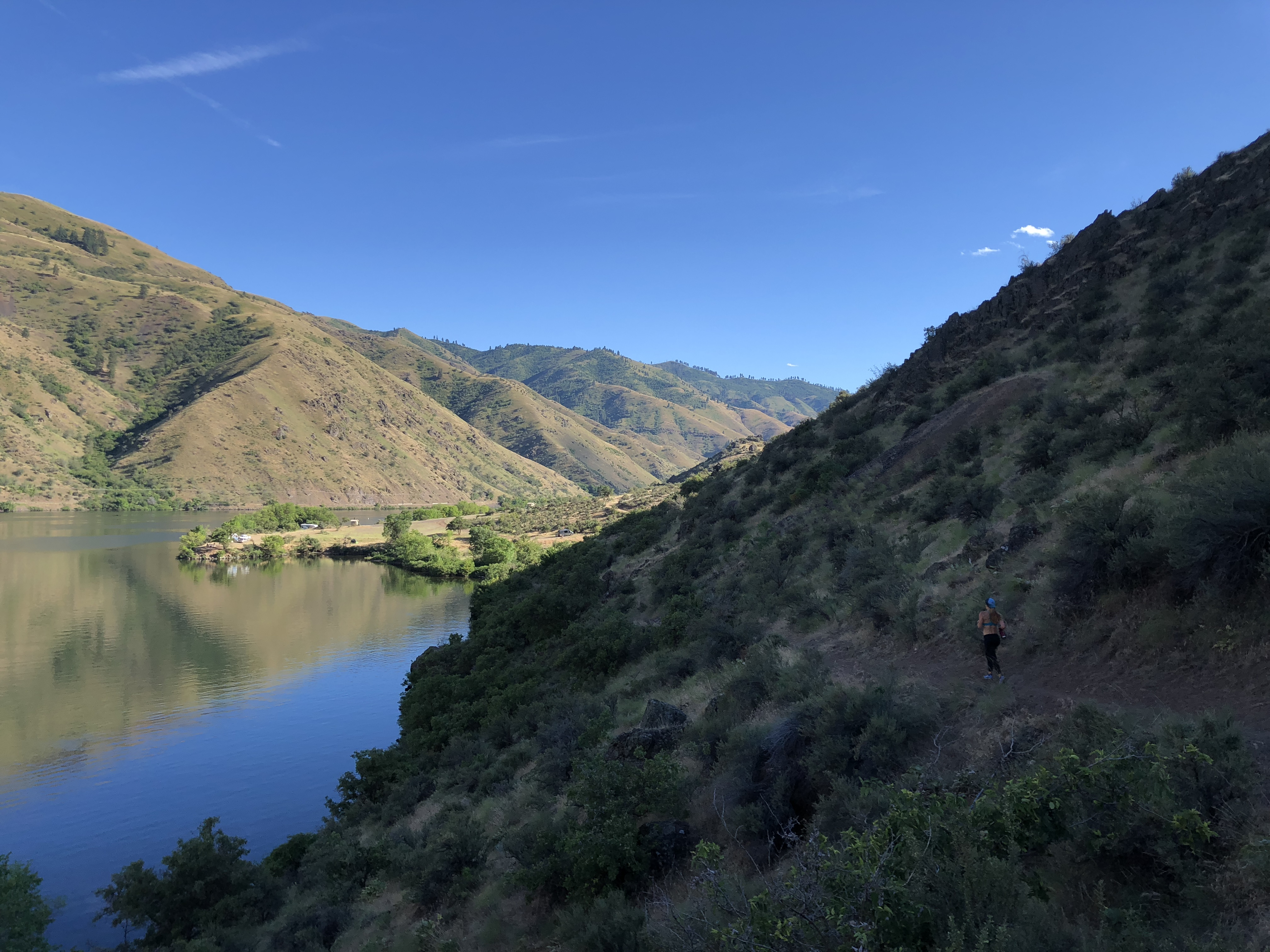 The last few steps until getting back to the van in Hells Canyon