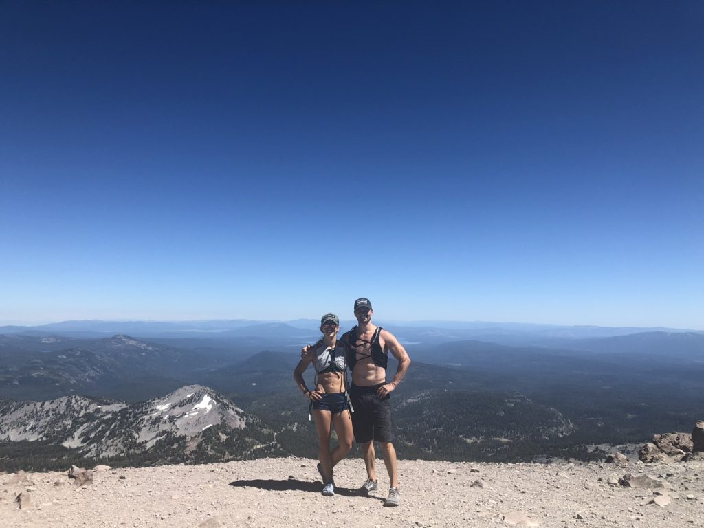 Emily and Joe at the Lassen National Park Cinder Cone of the Vantastic Life