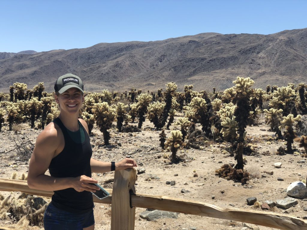 Emily hanging out in the Cholla Cactus Garden