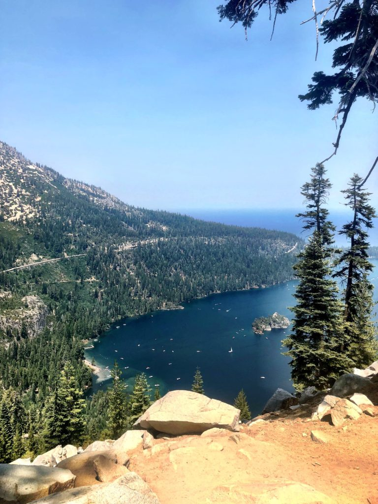 Lake Tahoe from high above during our trail run