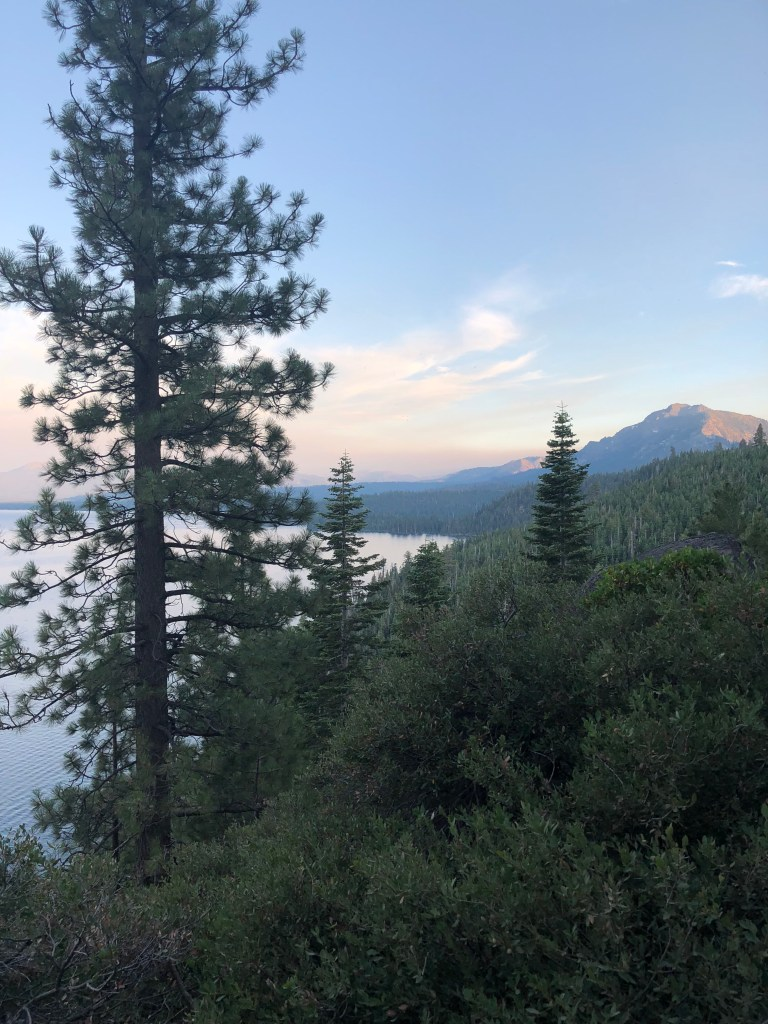 View from Lake Tahoe from the trail