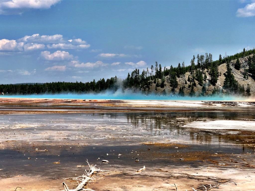 Fairy Falls yellowstone blue pools