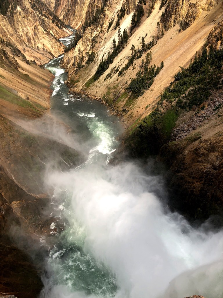 Grand Canyon of the Yellowstone National Park raging river