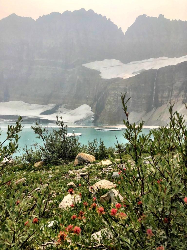 Grinnell Glacier in Glacier National park